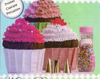 Frosted Cupcake Pincushion pattern by Maw-Bell Designs