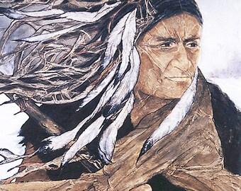 Print PEACEKEEPER by Lynne French ZEN Inspired Native American Warrior