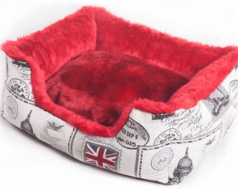 "Dog Baskets/Bed ""We love London"" M"