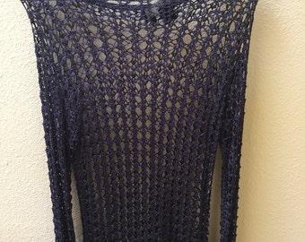 Vintage Mesh Tunic Sweater