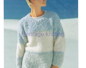 sweater chunky knitting pattern 99p pdf