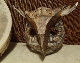 DIY Halloween mask, Make your own Owl mask, bird mask, rabbit mask from cardboard, PDF templates