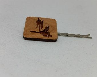 Australian Flower Bobby Pin - Hair Bobby Pin - Wood Bobby Pin - Hair Pin - Australian Wildflower - Sturt's Desert Pea - Hairclip