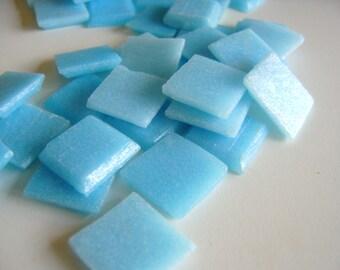 Blue Glass Mosaic Tiles 1 Pound