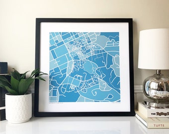 UNC Chapel Hill Map Print