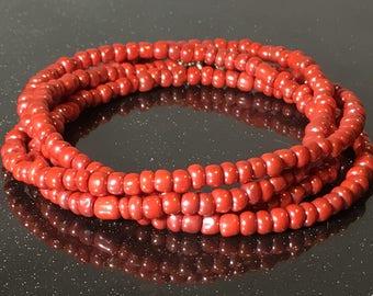 Salmon African Waist Beads