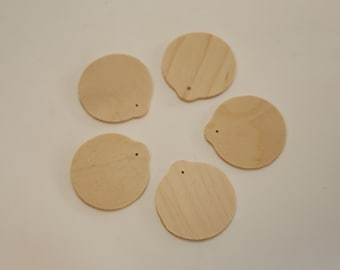 Unfinished Wooden Gift Tags