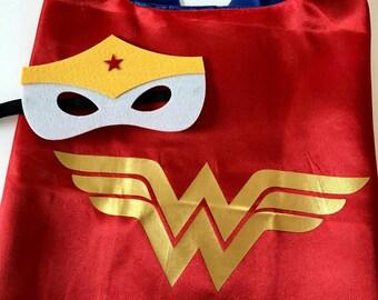 Wonder Woman Party, Wonder Woman Cape, Wonder Woman Party Favors, Superhero Party, Wonder Woman
