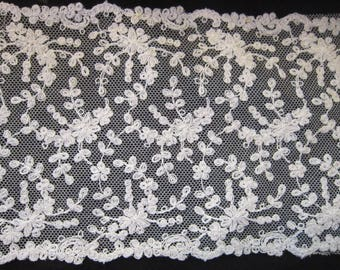 """9 yards antique french lace 5"""" wide brides wedding gowns sewing gorgeous lace"""