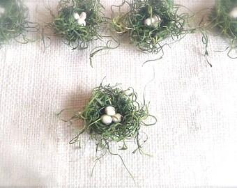 Miniature bird nests - SET OF 10 - Craft supply