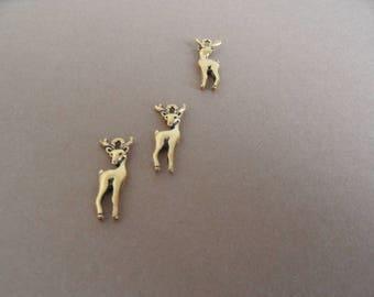 3 superbes petits pendentifs plaqué or 18k, en 2D, qualité !
