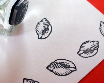 Little Shell Rubber Stamp - Handmade by Blossom Stamps