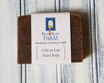 Cafe au Lait Sheep's Milk Hand Soap, Cold Process, Extra-Moisturizing, 1 Bar