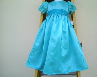 Nightgown/ Wendy Darling Dress / Costume in blue sateen