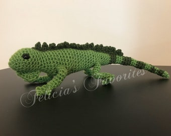 Crochet Iguana