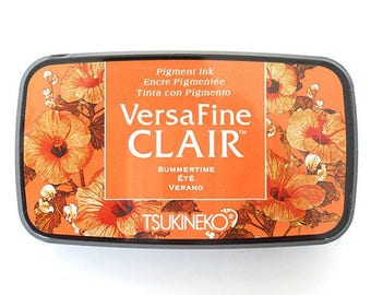 """Versafine Clair Ink Pad """"Summertime"""" orange ink pad by Tsukineko - The BEST ink for Detailed Rubber Stamps"""
