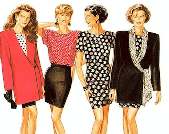 New Look Separates Pattern 6975 - Misses' Jacket, Dress or Top and Skirt - Sz 8 thru 18