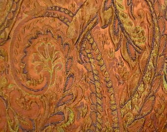 Paisley printed fabric coupons baroque color lights