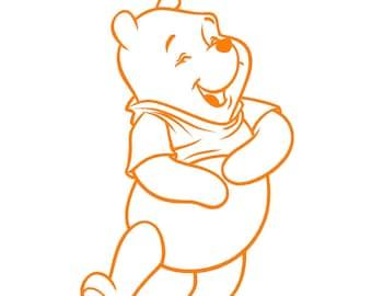 Bear decal car decal Cartoon Bear decal vehicle auto window decal custom sticker Honey Bear decal yeti cup decal