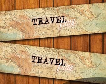 Travel Fund Label / Mason Jar Printable Label / Vintage Mason Jar Printable / Vintage / Mason Jar / Instant Download / Travel