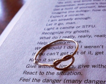 Knotted Up In You Rustic 14K Gold Filled Stacking Ring