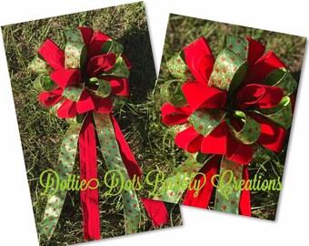 Christmas Bows, Polka Dot Bows, Wreath Bows, Accent Bows, Lamp Post Bows, Mailbox Bows
