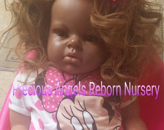 Custom Made To Order Biracial/AA  Reborn Toddler Doll  Made from the Arianna Kit