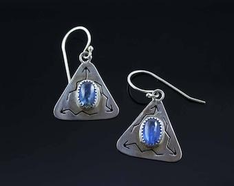 Kyanite Pierced Arrows Earrings