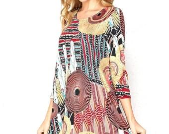 Style By Chris Venezia Swing Dress with Pockets Plus Size, XL, XXL, XXXL