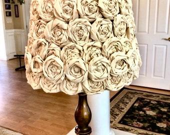 Beige rose lamp shade