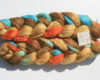 Polwarth Tussah Silk Spinning Fiber - 'Wheatfield'