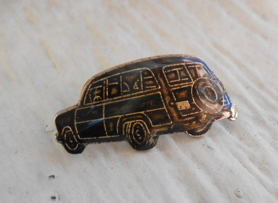 Vintage 1951 Woody's Car Pin, Mechanic Gift, Anniversary, Dad, Groomsmen Gift, Birthday. Lapel Pin