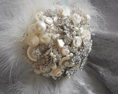 Vintage brooch and button...