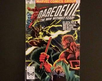 DAREDEVIL #168 1981 1ST Elecktra Appearance, Major Key Book Marvel Comics RARE UK