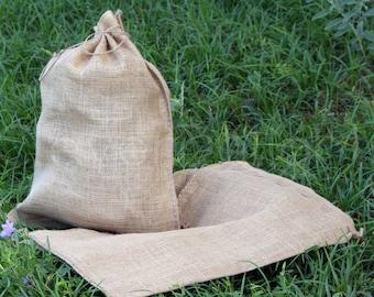 """2 Pack - 18x24 Large Burlap Bags - Natural Rustic Burlap Bags with Natural Jute Drawstring - Gunny Sack Bag - 18"""" x 24"""""""