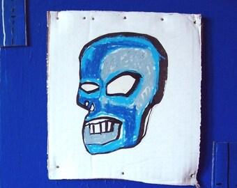 blue skull study
