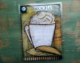 "VENTE!  Impression de café, 5 ""x 7» soldes Mixed Media impression, vente imprimer, impression, imprimer des café fantaisiste, fantasque, Art Café, moka imprimer"