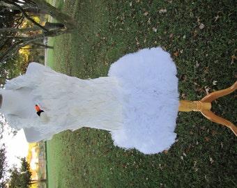 Bjork Swan dress, Bjork Swan Dress style Costume, Bjork Dress, Bjork Costume ADULT
