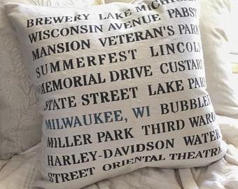 Everything Milwaukee Pillow