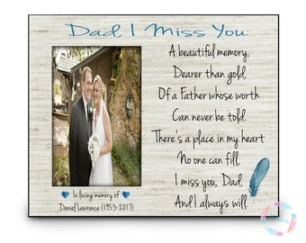 In Memory of Dad, Memorial Gift, Remembrance Dad, Deceased Father, Memorial Poem, Memory Gift, Personalized Memorial Gift, Remembrance Gift