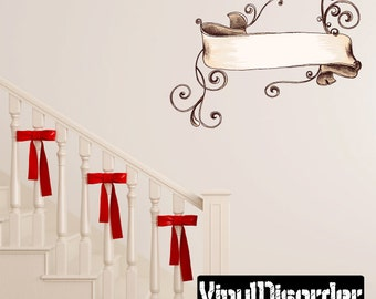 Ornate Scroll Wall Decal - Wall Fabric - Vinyl Decal - Removable and Reusable - ScrollOrnateUScolor007ET