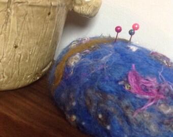 Laine de pelote Needle Felted bleu royal