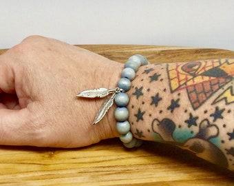 Beaded Bracelet - Gray