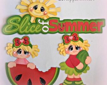 Summer Girl Scrapbook Page Card Paper Piecing Embellishment Die Cut Elite4u
