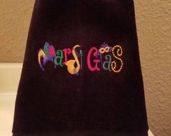 Mardi Gras Towel - Fingertip