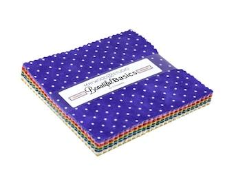 Charm Pack - Classic Dots by Maywood Studio (MAS609) Precut Squares Cotton Fabric