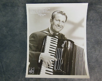 1949 James Kriegsmann Photo of Lawrence Welk Playing the Pancordion