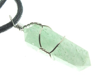 Green Aventurine Wire Wrapped Point Pendant ( 2 Pack )