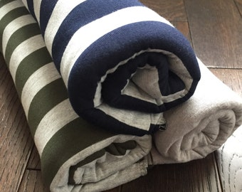 Blue & Grey Jersey Blanket