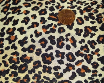 """Animal Print Cotton Remnant ,  9 1/2 """" Long  x  41 """" wide"""